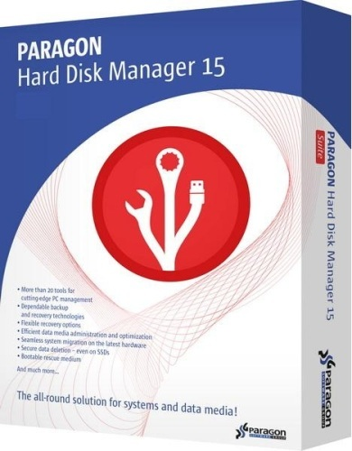 Paragon Hard Disk Manager 15 Pro 10.1.25.294 RePack by KpoJIuK + загрузочные диски