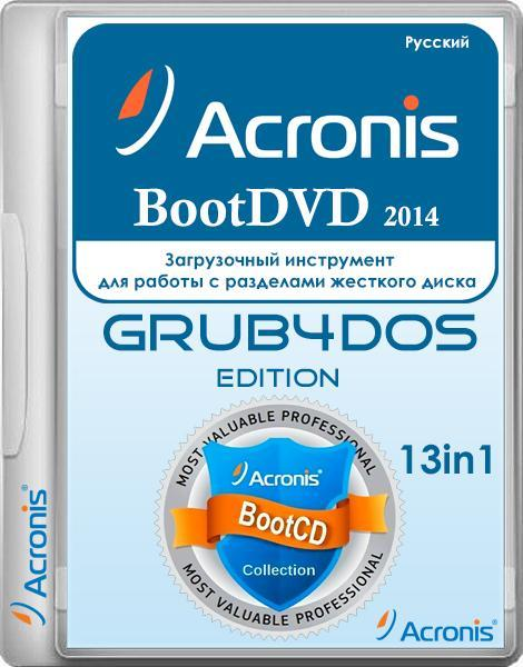 Acronis BootDVD 2014 Grub4Dos Edition v.18 13in1 (RUS/2014)