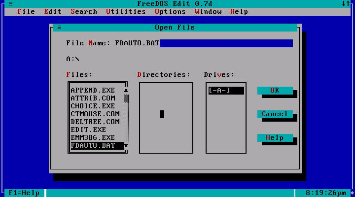 FreeDOS 1.1 Base