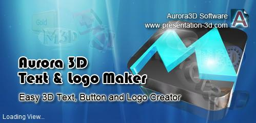 Aurora 3D Text & Logo Maker v13.12.01 + keygen