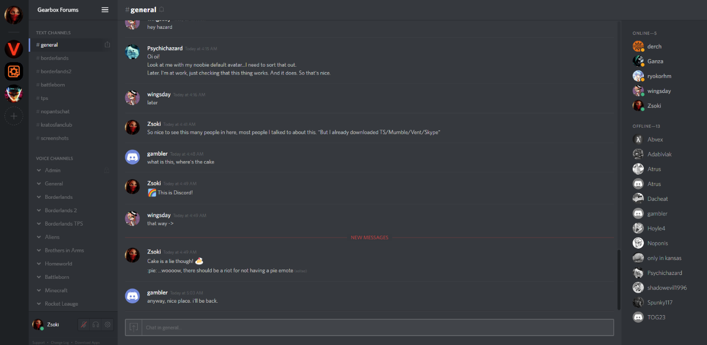 Скриншоты к Discord 0.0.300